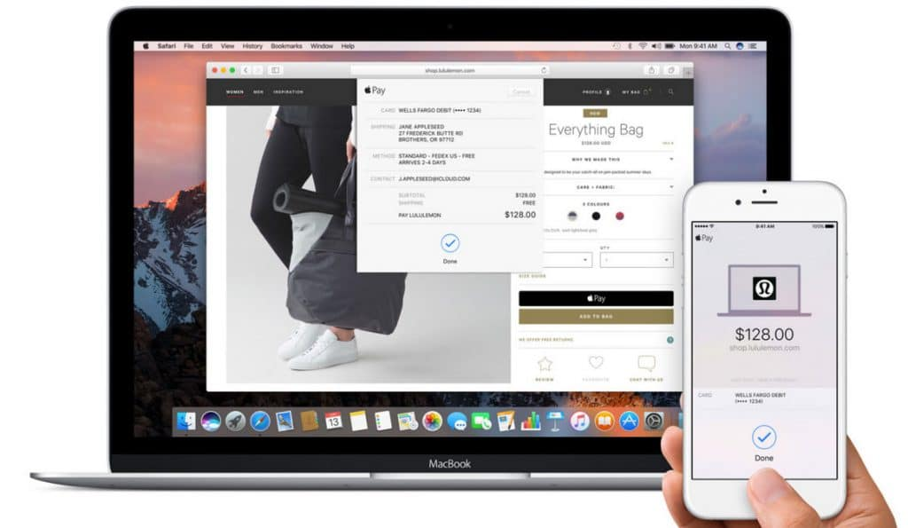 Apple Pay on macOS Sierra
